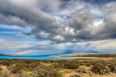 A place under clouds. (jaumedarenys) Tags: chile clouds rainbow novembre torresdelpaine hdr nvols 2014 arcdesantmart eos5d