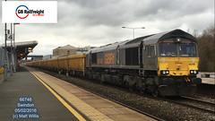GB RAILFREIGHT 66748 PASSING SWINDON 05022016 (MATT WILLIS VIDEO PRODUCTIONS) Tags: swindon gb passing railfreight 66748 05022016