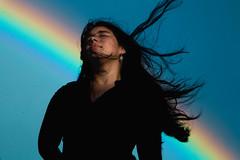 Lluvia de Luz ll (Rolando Noguera (Indigo)) Tags: new portrait sky woman nature colors rain landscape rainbow colombia skin fav50 sister fav30 depth fineartphotography fav100