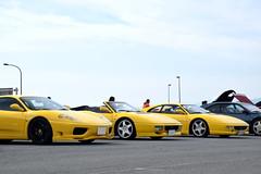 Yellow Ferrari (Andre.32) Tags: italy cars car japan photography 360 super ferrari exotic modena supercar supercars f355 pininfarina 348 sportcar ferrari360 360modena sportcars ferrari348 ferrari360modena ferrarif355 大磯ロングビーチ 大乗フェラーリミーティング