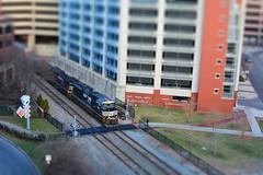 Norfolk & Southern #1062 (brutus61534) Tags: railroad columbus ohio train 35mm nikon tracks locomotive norfolksouthern tiltshift 1062 d7100