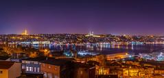 DSC05275-Pano (Orhan Kılıç) Tags: city longexposure sea sky reflection water skyline architecture turkey lights outdoor pano istanbul panoramic sishane sonysel35mmf18 sonya6000