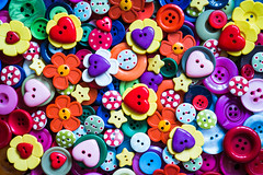 It's Valentine's Day! (Sean Batten) Tags: macro colors hearts stars nikon buttons shapes 60mm hmm d800 macromonday