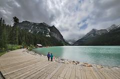 Lake Louise (Thankful!) Tags: mountain lake clouds rockies banff banffnationalpark