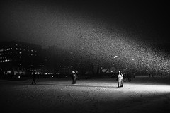Selfie time (primitiveprobe) Tags: light bw oslo norway night blackwhite sony scandinavia selfie floodlights rx1