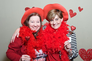 Photo booth fun for Go Red for women's heart health