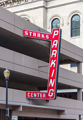 Tony Stark's Parking Center (Eridony) Tags: sign downtown kentucky louisville neonsign parkingstructure jeffersoncounty fourthstreetdistrict