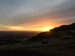 City dawn (Jean I Cresol) Tags: city sunrise dawn scotland edinburgh view 1st january viewpoint arthursseat 2016