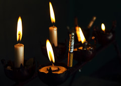 Cigarrillo (Jennifer Feinbraun) Tags: argentina canon candle cigarette smoke vela salta cigarrillo capilla 10faves 25faves zerofaves piedradelmolino capillasanrafael