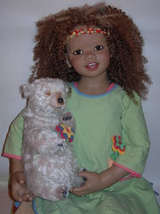 Toki (Summer Kinder by Annette Himstedt 2007) (VictoriaB6) Tags: doll vinyl afroamerican limitededition 2007 toki annettehimstedt summerkinder