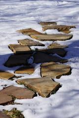 Path (Let Ideas Compete) Tags: usa snow stone colorado lafayette path co steppingstones stonepath lafayettecolorado lafayetteco
