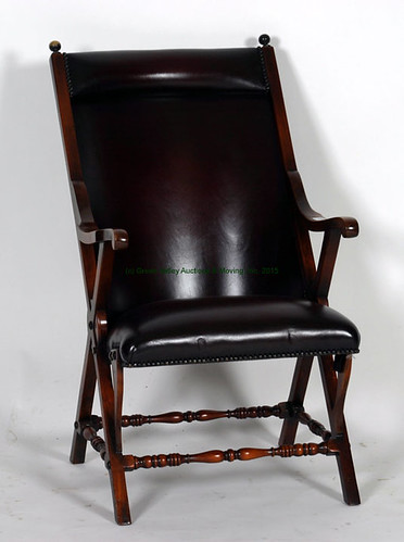 Leather Campaign Chair $412.50 - 10/23/15