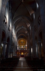 Modena Cathedral ( Ivan) Tags: light sea italy art church dark gold war catholic cathedral interior attack emilia modena bombs romanesque