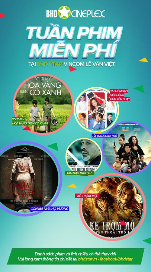 Nhận ngay 10.000 vé xem phim miễn phí tại BHD Star Vincom Lê Văn Việt