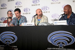 Brett Cawley, Robert Maitia, Matt Weitzman & Kevin Michael Richardson (Gage Skidmore) Tags: california robert matt scott michael los kevin dad baker angeles center jordan brett american bradley convention dee tbs wendy blum richardson weitzman wondercon 2016 schaal grimes cawley maitia