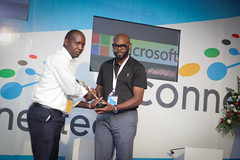 Microsoft Innovation Awards County Innitiave Runnes Up revenue collection App presented to  Elliud Kariuki (2)