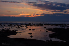 Kona Sunset (San Francisco Gal) Tags: ocean light sunset sky cloud color reflection water rock hawaii lava kona