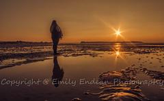 Sandbanks Sunset, Dorset (Emily_Endean_Photography) Tags: sunset people orange sun coast boat sand nikon colours tide low dorset sillouette sandbanks