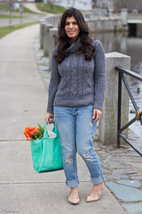 grey sweater, boyfriend jeans, laceup flats-2.jpg (LyddieGal) Tags: flower fashion grey sweater spring outfit gap style denim wardrobe tote oldnavy boyfriendjeans ccskye gorjana weekendstyle laceupflats