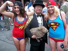 Dr. Takeshi Yamada and Seara (sea rabbit) visited the annual Gay Pride Parade in Manhattan, New York on June 28, 2015. The US President Obama and the Supreme Court Legalizes Gay Marriage Nationwide on June 26, 2015. 20150628 100_8426=1010C (searabbits23) Tags: ny newyork sexy celebrity art hat fashion animal brooklyn painting asian coneyisland japanese star tv google king artist dragon god manhattan wildlife famous gothic goth performance pop taxidermy cnn tuxedo bikini tophat unitednations playboy entertainer takeshi samurai genius mermaid amc mardigras salvadordali unicorn billclinton billgates aol vangogh curiosities sideshow jeffkoons globalwarming takashimurakami gayprideparade pablopicasso steampunk yamada damienhirst cryptozoology freakshow barackobama samesexmarriage seara immortalized takeshiyamada museumofworldwonders roguetaxidermy searabbit ladygaga climategate minnesotaassociationofroguetaxidermists