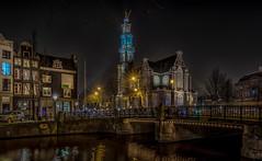 Westerkerk/-toren Amsterdam (mcalma68) Tags: nightphotography amsterdam canals westertoren westerkerk