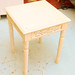 White ornate occasional table