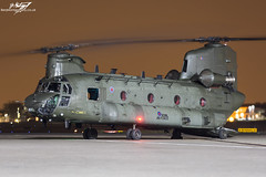 Boeing CH-47D Chinook HC.4 ZA681 - Royal Air Force (BenSMontgomery) Tags: force air royal nightshoot helicopter boeing chinook raf odiham hc2 2016 northolt ch47d za681