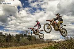 343 and 299 in flight (Gavmonster) Tags: uk trees england sky clouds jump nikon track mud britain racing motorbike dirtbike motocross horsham 299 motox 343 airbourne smx twowheels homefarm d7000 wheelsintheair nikond7000 southernmotocross gswphotography