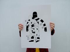 Hole - A2 screen print (Jack Teagle) Tags: shadow blackandwhite poster sadness screenprint graphic spirit ghost bold