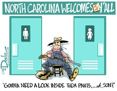 0416 carolina moon cartoon (DSL art and photos) Tags: gay lesbian charlotte northcarolina transgender bisexual restrooms discrimination questioning editorialcartoon bigotry statesrights lgbtq donlee localcontrol moralitypolice