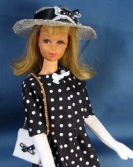 Black and White dotted Set (Debras Closet) Tags: white black francie dollclothes