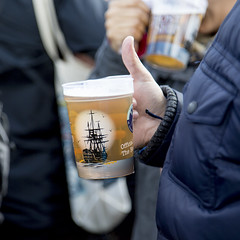 Ghost Ship in a Ghost Ship mug (Adnams) Tags: beer theboatrace ghostship 2016 adnams furnivallgardens thebnymellonboatraces