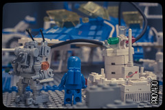 Mr. Robot, we're home! (Priovit70) Tags: lego space exhibition benny spaceship diorama mrrobot minifigures classicspace cremonabricks olympuspenepl7 mattonciniallombradeltorrazzo