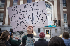 Believe Survivors (Evan's Life Through The Lens) Tags: street camera city urban love glass beautiful vintage lens fun march amazing support day minolta bright walk f14 sony rally group sunny rape believe violence sexual awareness 58mm survivor a7s