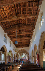 Saint Michael's Wide View (Non Paratus) Tags: wood uk roof church somerset carving medieval ceiling ornament engand forcedperspective somerton saintmichaelsallangels