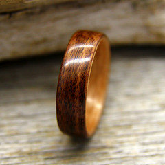 Santos Rosewood and Birch (stoutwoodworks) Tags: wood wedding water one wooden engagement natural bend handmade grain band craft jewelry steam ring kind rings santos strong handcrafted birch steamed bent alternative lining stout 6mm ecofriendly rosewood lined durable woodworks bentwood