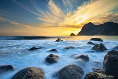 Izu Ihama beach (koshichiba) Tags: longexposure light sunset sea sky seascape beach nature japan landscape long exposure tide shore   izu orenge   minamiizu  ihama
