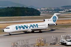 """Pan American World Airways - Pan Am Boeing 727-214/Adv N375PA """"Clipper Flying Cloud"""" (Kambui) Tags: airplane airplanes boeing zrich panam aviones avions kloten zrh flugzeuge  avies boeing727 aeroplani kambui  panamericanworldairwayspanam"""
