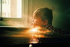 lost in thought (fotobes) Tags: boy sunset sea sky house beach home window shirt clouds hair lca xpro crossprocessed brighton hand felix dusk head doubleexposure crossprocess grain sofa brightonbeach tufty agfaprecisa100 northlaine agfactprecisa100 checkedshirt