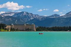 Lake Louise and The Fairmont Chateau (Mark Harris photography) Tags: mountain lake canada photo ab alberta lakelouise