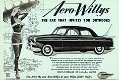 1953 Willys Aero Falcon Sedan (aldenjewell) Tags: canada sedan newspaper anniversary ad falcon 50th willys aero 1953 4door