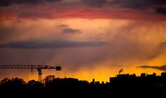 ciel nebuleux (ju.labs) Tags: sunset red sky colors rain yellow jaune canon rouge grey gris couleurs pluie ciel contraste silouhette couchdesoleil nuances pourpre finegold 55250 700d canon700d canon55250