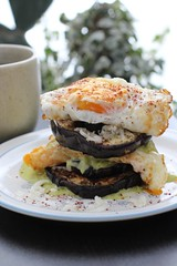 Eggs + Eggplant + avocado & salsa verde (Annabelle Orozco) Tags: food breakfast recipe mexico avocado eggplant huevos eggs desayuno styling aguacate berenjena receta salsaverde foodstyling cultivarium