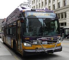 King County Metro 2015 New Flyer XT40 4348 (zargoman) Tags: seattle county travel bus electric king metro trolley transportation transit kiepe elektrik kingcountymetro newflyer lowfloor xcelsior