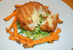 Melt in the Middle Haddock Cakes, Sweet Potato Sticks, Spiralized Courgette (Tony Worrall) Tags: uk england food english make menu yummy nice yum dish photos tag cook tasty plate eaten things images x made eat foodporn add meal taste dishes cooked tasted grub iatethis foodie flavour plated foodpictures ingrediants picturesoffood photograff sweetpotatosticks foodophile ©2016tonyworrall meltinthemiddlehaddockcakes spiralizedcourgette