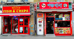 West meets East (tcees) Tags: street food whitechapel kebab fishchips