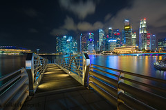 Final Destination (zollatiff) Tags: longexposure travel reflection architecture night buildings landscape pier lowlight scenery singapore cityscape outdoor jetty waterscape marinabay finaldestination malaysianphotographers nikkor1024 nikond7100 colorfulcityscape zollatiffflickr