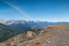 The view from the top! - Redux (Patstirling) Tags: trip travel blue trees sky mountain clouds canon landscape 24105mmf4l rocks mine border columbia ridge alberta crowsnest wife gorge british coal chasm canon6d