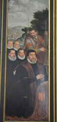 Detail from the left panel of the Triptych of the Adoration of the Sheherds by Pieter Pourbus, 1574 (greentool2002) Tags: our church lady lieve bruges onze vrouwekirk