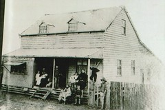 Stephen and Maria Smith and family in Tingalpa Road, Hemmant, Qld (Aussie~mobs) Tags: family shop vintage baker australia business queensland grocer stephensmith hemmant mariasmith tingalparoad